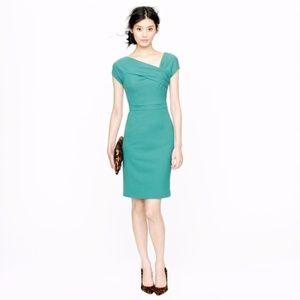 J. CREW Origami Sheath Dress Emerald Green {2C32}